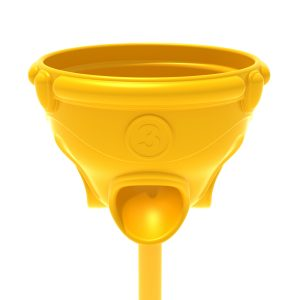 Funnel Ball Game – Sunglow Yellow Post and Top