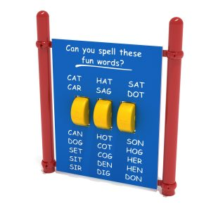 Freestanding Spelling Panel with Posts