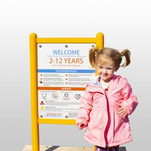 Double-Sided Safety and Welcome Sign