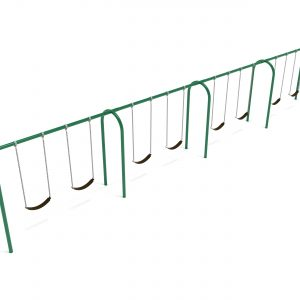 4 Bay – Frame with Hangers and 4 Bay Belt Seat Package