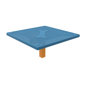 Square Dog Grooming Table