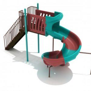 6 Foot Sectional Spiral Slide