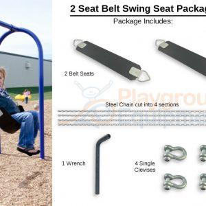 1 Bay Package Belts – 12′ Top Rail