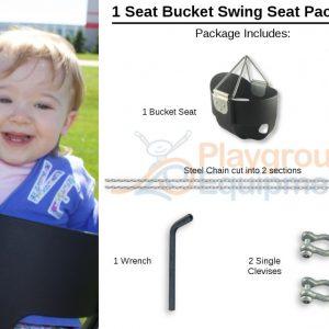 1 Seat Package Bucket –  8′ Top Rail