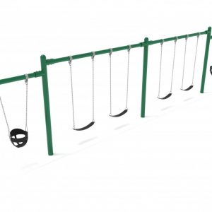2 Bay 2 Cantilevers – Frame with Hangers, 2 Bay Belt Seat Package, 1 Bay Bucket Package