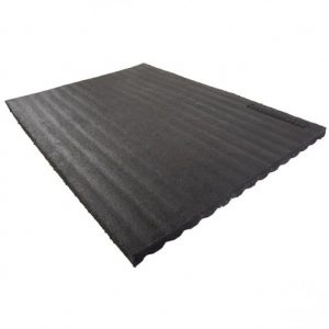 4 feet x 2 feet Rubber Swing Wear Mat – Black