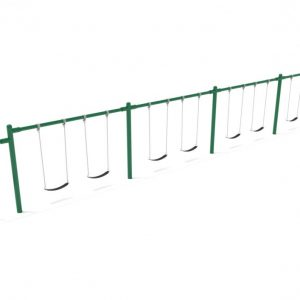 4 Bay 2 Cantilevers – Frame with Hangers, 4 Bay Belt Seat Package, 1 Bay Bucket Package