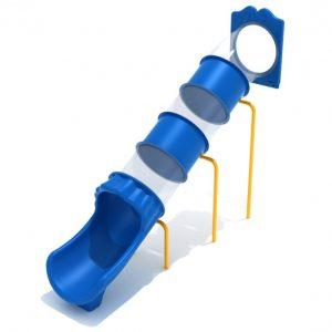 7 Foot Straight Tube Slide – Slide and Mounts Only