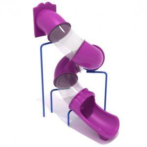 10 Foot Spiral Tube Slide – Slide and Mounts Only