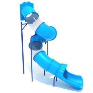 12 Foot Spiral Tube Slide – Slide and Mounts Only